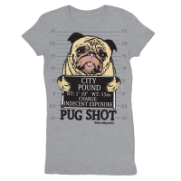 PUG SHOT WOMEN'S T-SHIRT- SALE
