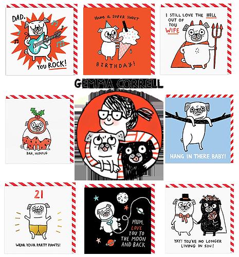Gemma Correll Pug Cards