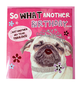 Fab Pug Birthday Card