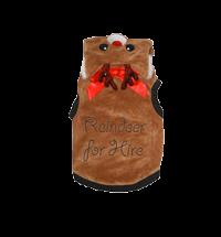 Reindeer for hire 'Onesie' dog costume