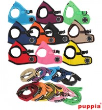 Puppia Plain Jacket Harness & Lead Combo