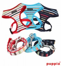 PUPPIA WATERCOLOR HARNESS & LEAD COMBO