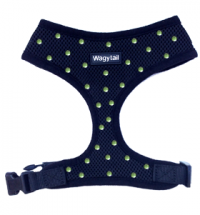 Black Harness with Green Diamante