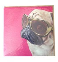 Cool Pug Card