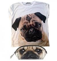 Ladies Pug T Shirt & Oval Bag Offer