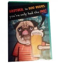 Brother Happy Birthday Pug Card
