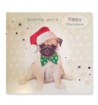 Yappy Christmas Pug Card