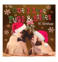 Pugs & Kisses Christmas Card