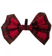 Tartan Pug Bow Tie