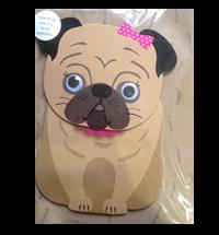 Pug Wobble Birthday Card