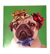 Pug Christmas Present Card