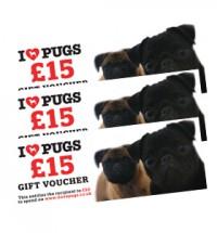 I LOVE PUGS £15 GIFT VOUCHER