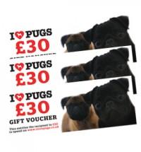 I LOVE PUGS £30 GIFT VOUCHER