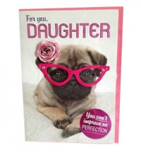 For you Daughter Pug Card