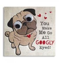 Valentines Googly eye card