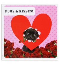 Black Pug Valentines Card