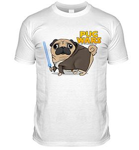 Star Wars Pug T Shirt (Adult Unisex)