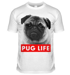 Pug Life T Shirt (Adult Unisex)