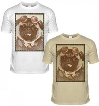 Steam Pug T Shirt (Adult Unisex)