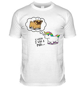 Pug Unicorn Wish T Shirt (Adult Unisex)
