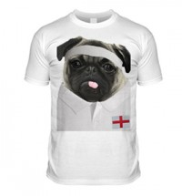 England Rugby Pug T Shirt (Adult Unisex)