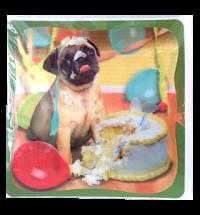XX Large 3D Birthday Pug Card