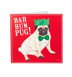 Bah Hum Pug Card