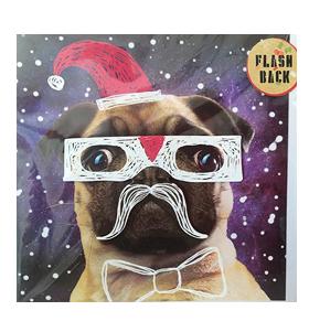 Flash Back Christmas Pug Card