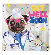 Get Well Soon Pug Card