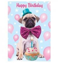 Happy Birthday Pug Card
