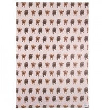 Fawn & Black Pug Gift Wrap