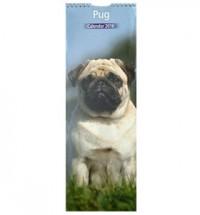 2016 12 Month Pug Slim Calendar