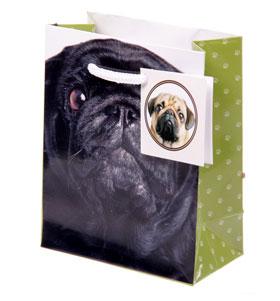 Small Black Pug Gift Bag