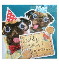 Daddy Birthday Pug Card