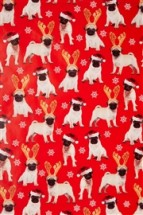 Pug Christmas Wrapping paper roll