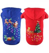 Flashing Santa & Reindeer Hoodie