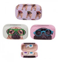 Pug Contact Lenses Case