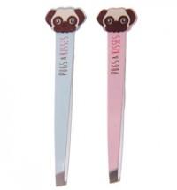 Blue & Pink Pug Tweezers