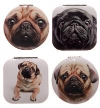 Pug Compact Mirror (Choice of 4 designs)