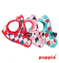 PUPPIA ARGYLE SOFT HARNESS JACKET