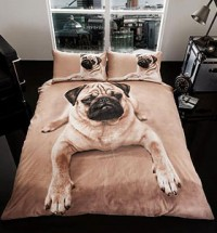 3D PUG DOUBLE KING DUVET SET