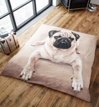 PUG MINK FAUX THROW