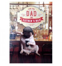 'For you dad on' Fathers Day Pug Card