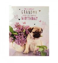Pug Grandma Birthday Card