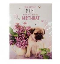 Happy birthday mum pug card