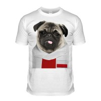 Poland Pug Football T-Shirt (Adult Unisex)