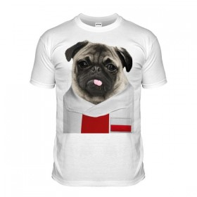 Poland Pug Football T-Shirt (Adult Unisex)