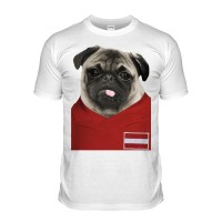 Austria Pug Football T-Shirt (Adult Unisex)