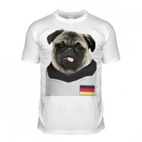 Germany Pug Football T-Shirt (Adult Unisex)