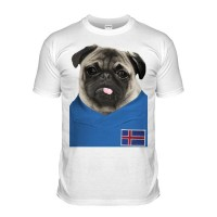 Iceland Pug Football T-Shirt (Adult Unisex)